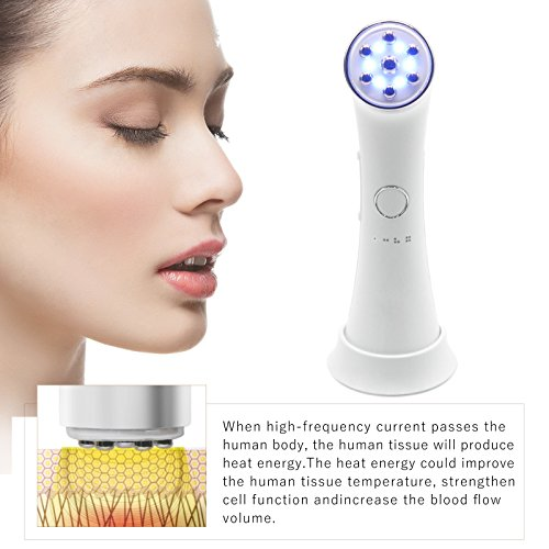 Pro High Frequency HF Skin Tightening Beauty Facial Skin Care Spa Salon Tools Equipment Equate Beauty Sensitive Cleansing Facial Wipes, 40 Ct
