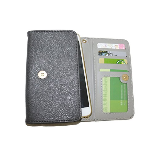 Conze moda teléfono celular Llevar bolsa pequeña con Cruz cuerpo correa para Apple Iphone 7/Plus, ASUS Zenfone 2 Deluxe zs570kl/5,5 zs550kl, Acer Liquid Z6 Plus, Blackberry dtek60/Aurora/Keyone verde  gris