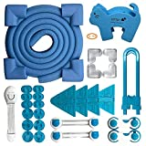 InStyle-Egg No Drill Safety Cabinet Locks, Baby & Child Proofing Locks Furniture Table Window, Cabinet Knobs, Bumpers Protectors, Latches, Outlet Covers, Safety Corner & Edge Guards 33 Pcs, Blue