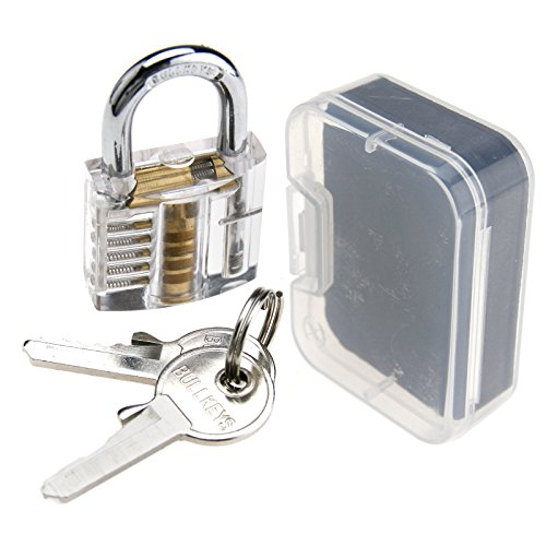 Cutaway Practice Tool Visible Padlock Lock Inside View Transparent