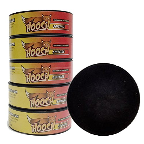 Roll Spitfire (Hooch Snuff - Non-Tobacco Nicotine Free Chew - SpitFire - 5 Cans (fine cut) - Includes Free DC Skin Can Cover)