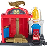 Hot Wheels FMY96 City Downtown Fire Station Spinout Playset, Mix