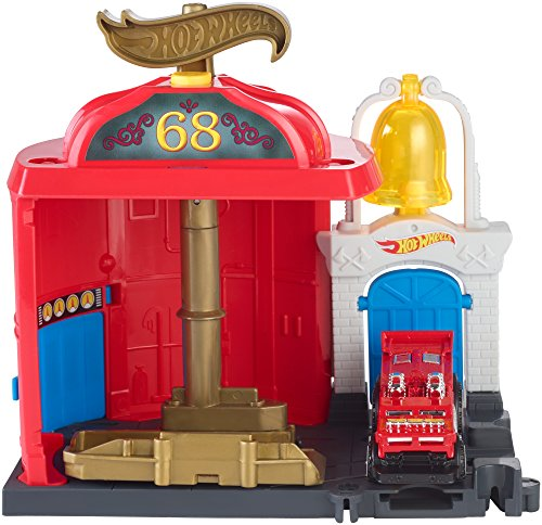 Playset Fire (Hot Wheels City Downtown Fire Station Spinout Playset)