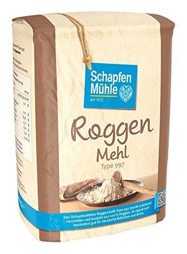 Schapfenmühle Roggenmehl 997, 10er Pack (10x 1 kg)