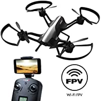 """Force1 F72 Drone with Camera - """"Rogue"""" Wifi FPV 720p HD Camera Drone with 1 Key Takeoff Landing and 360° Tricks Quadcopter"""