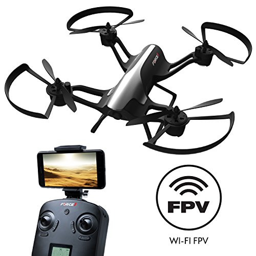 Force1 Drone with FPV Quadcopter - ''Rogue'' 720p HD Camera Drone with 1 Key Takeoff Landing and 360° Tricks Quadcopter by Force1