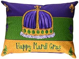Mardi Gras tela almohada decorativo