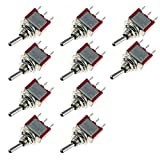 Etopars™ 10 X On/Off/On Momentary Mini Miniature Toggle Switch Car Dash Dashboard SPDT 3Pin
