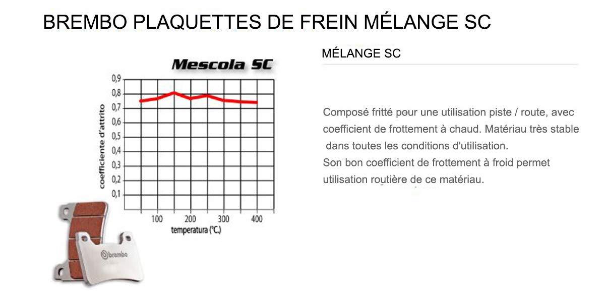07HO45.SC Plaquettes Brembo Frein Anterieures SC pour Honda CBR F4 600 1999  2002