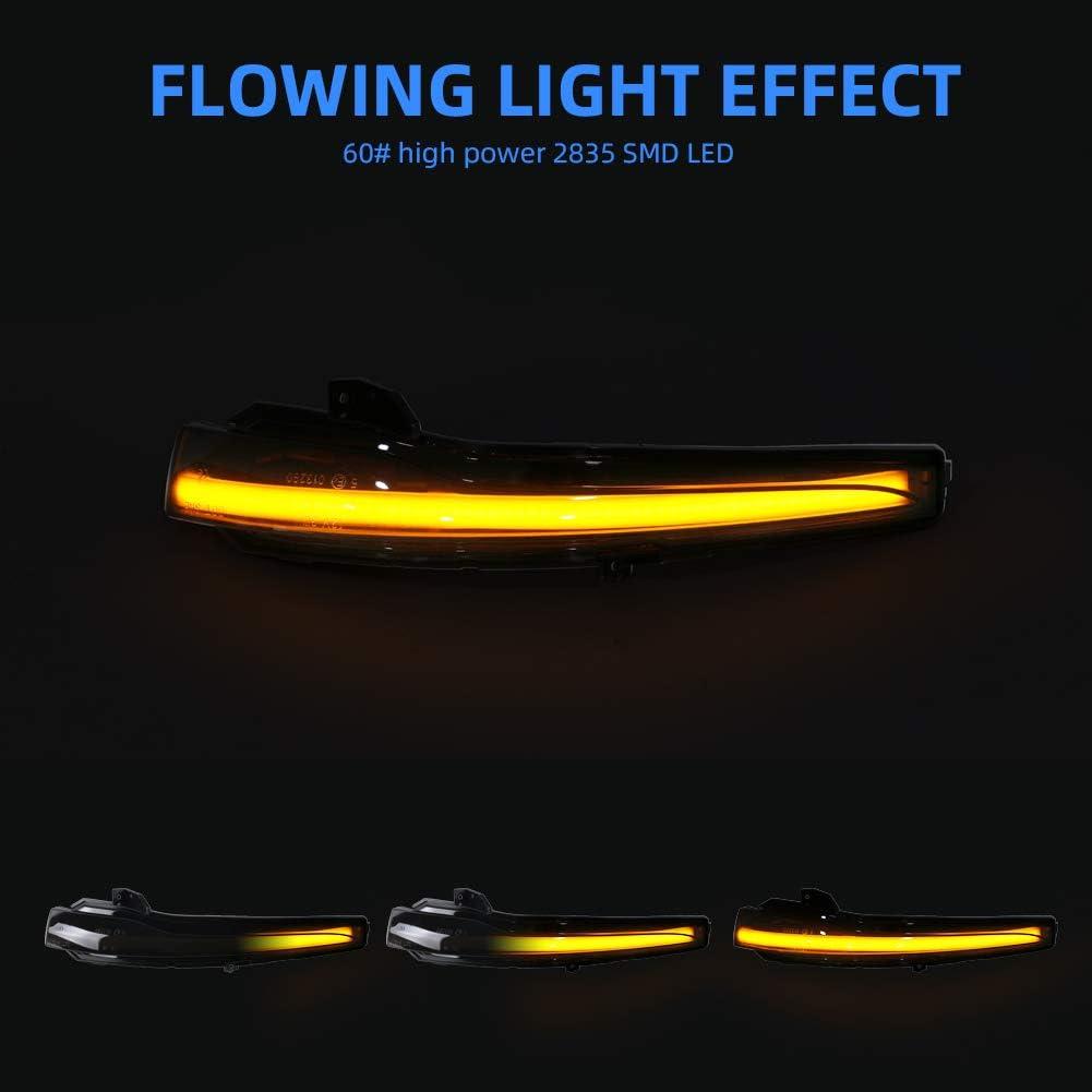 1 Paar Gempro Led Seitenspiegel Blinker Dynamisches Blinken Fahrtrichtungsanzeiger Gelbe Farbe Für Auto B Enz C Klasse S Klasse E Klasse Rauchglas Auto