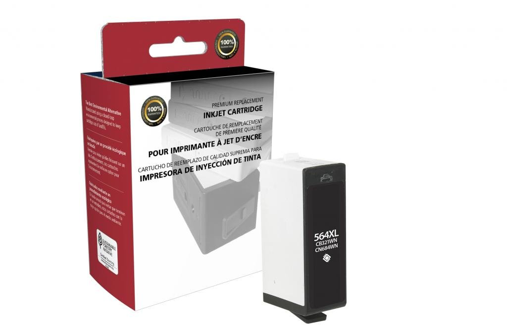 CIG Remanufactured High Yield Black Ink Cartridge for HP CN684WN (HP 564XL)