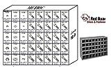 "Metric Hex Head Cap Screws Zinc Plated Steel 14mm to 24mm diameters w/ Nuts, Flat & Lock Washer in 9"" deep - 40 Bin Cabinet"