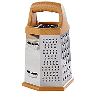 Padshow Stainless Steel Six Sided Grater