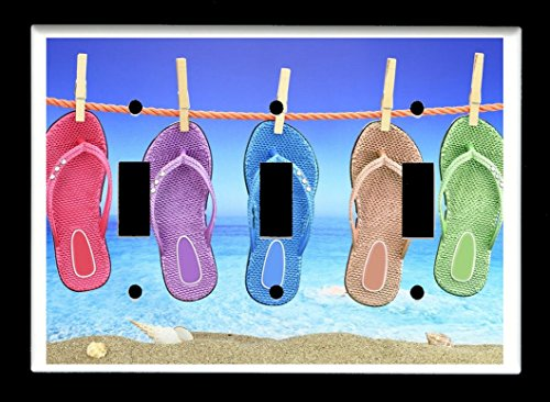 triple-toggle-3-toggle-light-switch-plate-cover-flip-flops-hanging-on-clothesline-flip-flop-plates