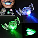 LED Flashing Teeth,Kasien 2Pcs Flashing LED Light Up Mouth Braces Piece Glow Teeth For Halloween Party (LED Flashing Teeth)