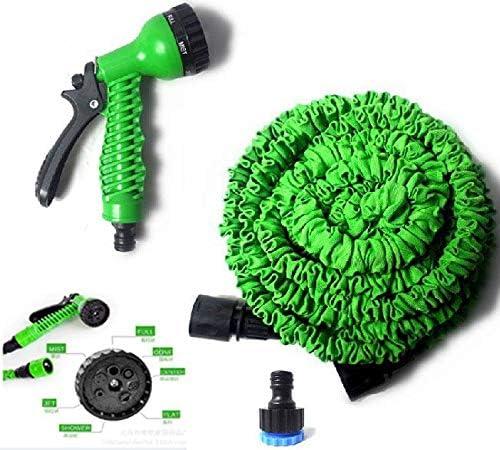 c/ésped flexible con pistola de pulverizaci/ón con 7 funciones Manguera de jard/ín extensible para riego y lavado de coche o moto Fasttrade 30 m // 100 m manguera de agua para jard/ín extensible