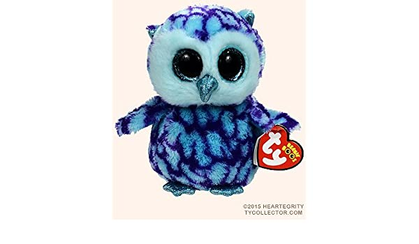 Amazon.com  New TY Beanie Boos Cute OSCAR the Blue   Purple Owl Plush Toys  6   15cm Ty Plush Animals Big Eyes Eyed Stuffed Animal Soft Toys for Kids  Gifts … 05c65d04039a