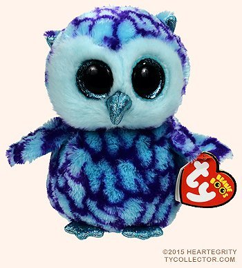 Amazon.com  New TY Beanie Boos Cute OSCAR the Blue   Purple Owl ... 8ac70f4c8da7