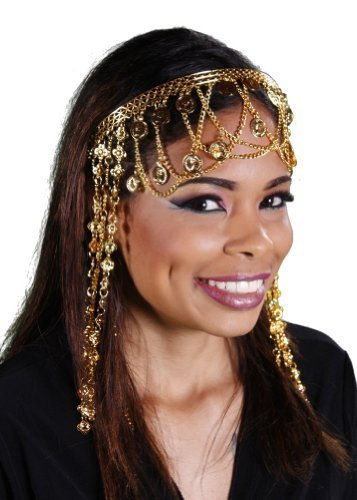 Belly Dance Coined Head Band | Ancient East, Gold by Miss Belly Dance