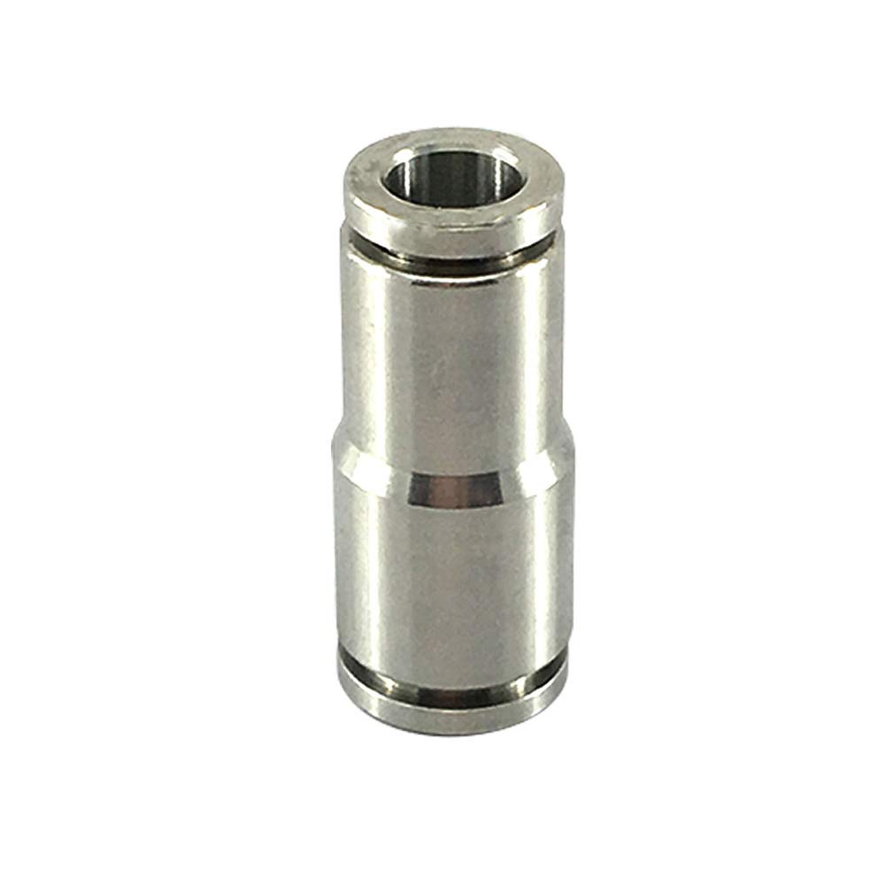 Metalwork Metric 304 Stainless Steel Reducing Push to Connect Air Fitting, Reducer Straight Union (8mm x 6mm Tube OD, Pack of 5)