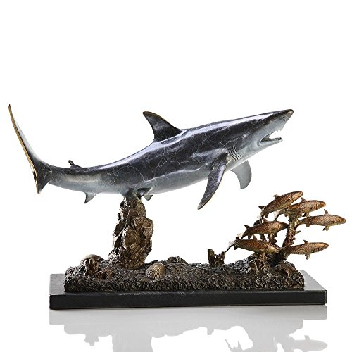UPC 725739050989, San Pacific International 10H in. Shark with Prey Statue