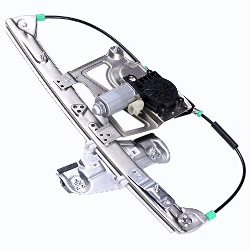 Power Window Lift Regulator on Front Left Drivers Side with Motor Assembly Replacement for 2000-2001 Cadillac DeVille ()