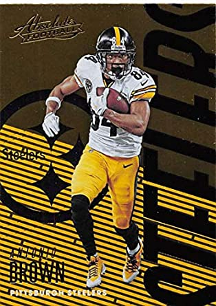 01a77c55257 2018 Absolute Football  85 Antonio Brown Pittsburgh Steelers Official NFL  Trading Card made by Panini