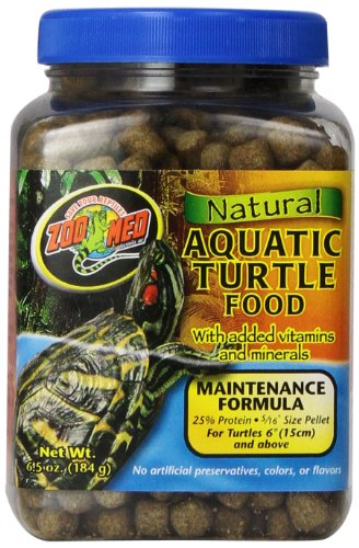 - Zoo Med Natural Aquatic Turtle Food, 6.5 Ounce, Maintenance Formula