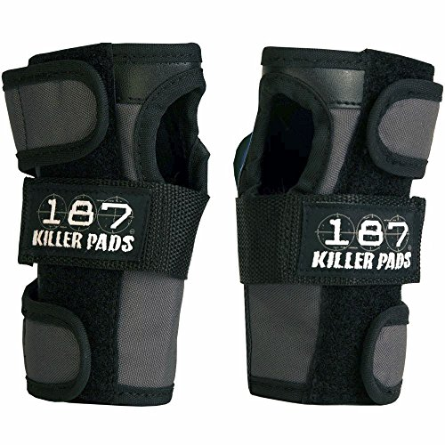 Padded Wrist Guards - 187 Killer Pads - Wrist Guards - Grey/Black - X-Small