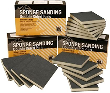 Indasa Sponge Sanding Pads 115 x 140mm Micro-Fine 10 Pads Wet or Dry Use For Primers//Top Coatsc//Clear Coats//Fiberglass /& Gelcoat Materials//Solid Surface Materials//Soft and Resinous Wood//Wood Coatings