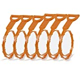 6 Pack Drain Snake Hair Drain Clog Remover Drain Cleaning Tool (3 Piece 19.6 Inch + 3 Piece 23.6 Inch)