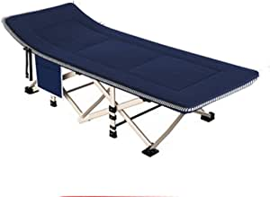 Mopoq Folding bed work office room hard lunch break sleeping lying accompanying bed balcony home small apartment bedroom children (Color : Blue)