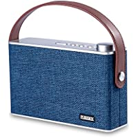 PUREBOX Portable Wireless Bluetooth Speakers with Handle Classic Radio Design Build-in Mic  Support Hands-free Function Stereo Speaker for Smartphones Tablets and More,Navy Blue