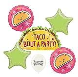 Taco Party Green Stars Balloon Set Bundle