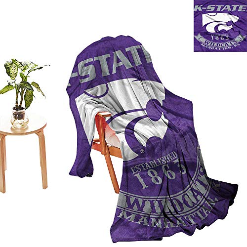 (yloveme Custom Blanket Northwest Officially Licensed NCAA Kansas State Wildcats Rebel Plush Raschel Throw Blanket, 60 x 80 Throw Blanket)