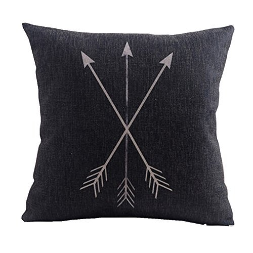 Decorbox White Feather Retro Magic Arrow Pattern 18x18 Inch