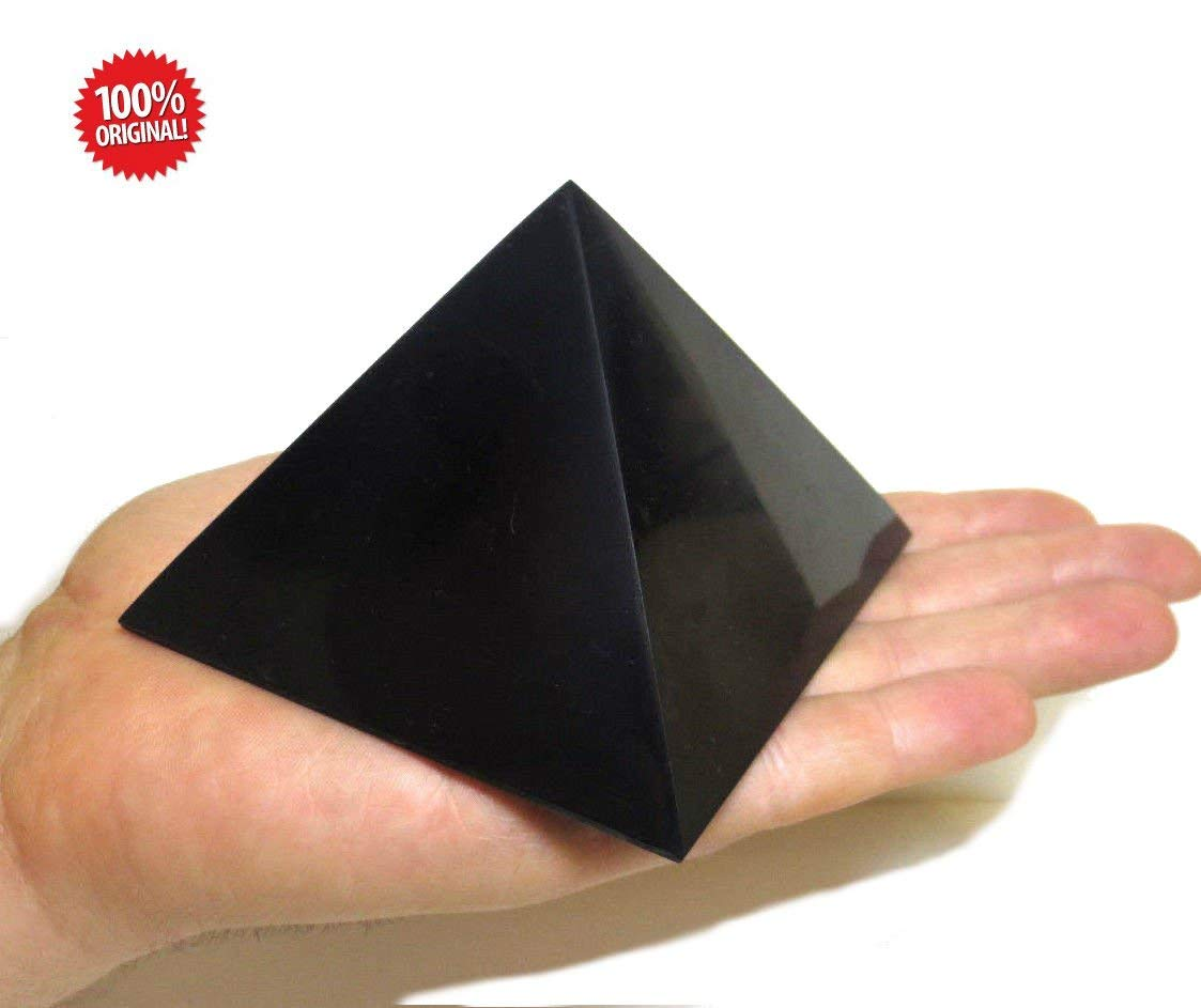 N/&D Store Shungite Piramide Lucida in shungite 90 x 90 mm