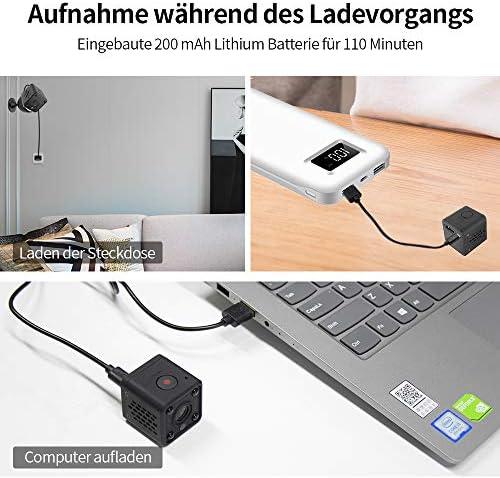 Camera Espion, Full HD 1080P Camera Surveillance Wifi, Mini Caméra Espion avec Detection de Mouvement et Vision Nocturne Infrarouge pour Caméra de Surveillance de Sécurité Intérieure Extérieure