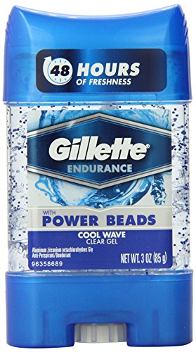 Gillette Clear Gel With Power Beads Cool Wave Anti-Perspirant/Deodorant 3 Oz (Pack of 3) (packaging may vary)