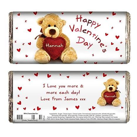 Tavoletta Di Cioccolato Personalizzata Per San Valentino Con