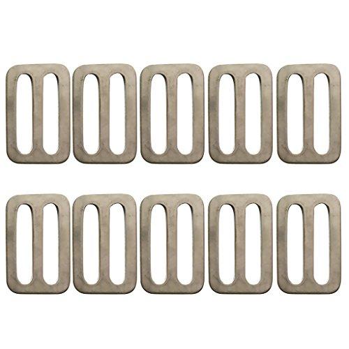 (MonkeyJack 10 Pieces 1 '' Slide Button Adjustable Webbing Weight Belt Slider Buckle Fasteners)