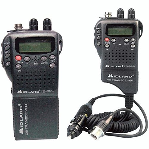 Best Price Midland Radio 75-822 Portable Mobile CB Radio, Large LCD Display, Keypad Lock, Plug and P...
