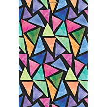 Journal Notebook Abstract Geometric Watercolor: 162 Lined and Numbered Pages With Index Blank Journal For Journaling, Writing, Planning and Doodling.