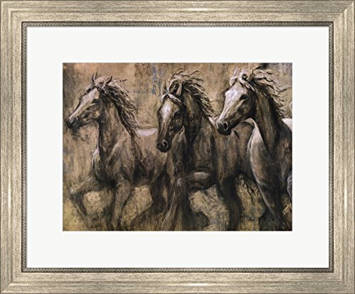 - Desert Kings by Karen Dupre Framed Art Print Wall Picture, Silver Scoop Frame, 24 x 19 inches