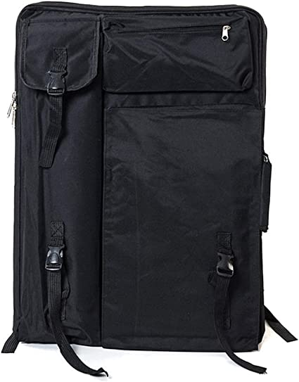 Art Portfolio Bag Carrying Case Grey Outdoor Artist Art Supply Sketch Board Travel Sketchpad Drawing Board Bag for Artwork Storage Easel Palette Art Student Photo Sketching Painting Easel Palette