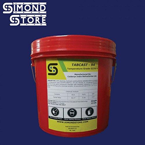 Tabcast-94 Dense Castable Refractory Cement (High Alumina) 22 Lbs