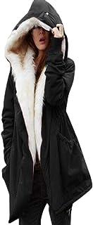 ZHRUI Felpa con Cappuccio da Donna, Capispalla per Donna, Inverno Caldo Pile in Pile (Colore : Nero, Dimensione : X-Large)