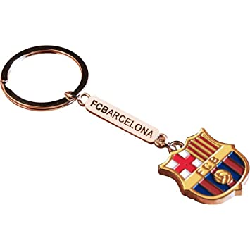 FC BARCELONA FCB Oficial cresta texto llavero