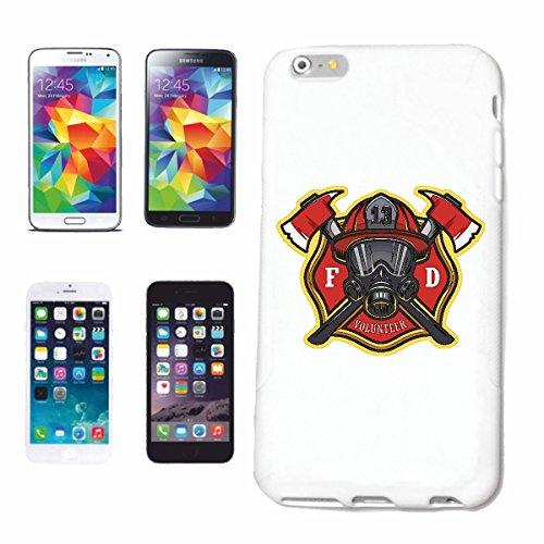 """cas de téléphone iPhone 7S """"POMPIERS AMERICAN POMPIER BADGE AVEC MASQUE RESPIRATOIRE POMPIER Fire Company VOLONTAIRE POMPIER FFW INSERT HEAD PROFESSIONNEL FIRE STATION D' INCENDIE"""" Hard Case Cover Tél"""