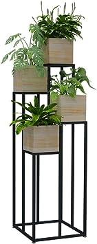 Bastidores Friendshlr de plantas jardineras soporte de la planta de metal cubierta de múltiples capas del
